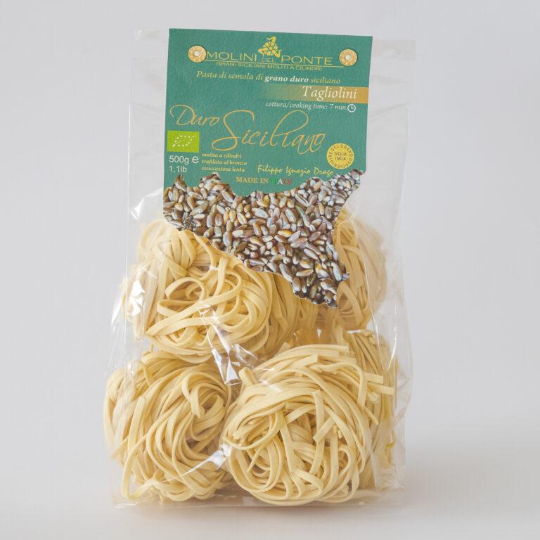 Økologisk pasta – tagliolini duro siciliano ad semuljehvede