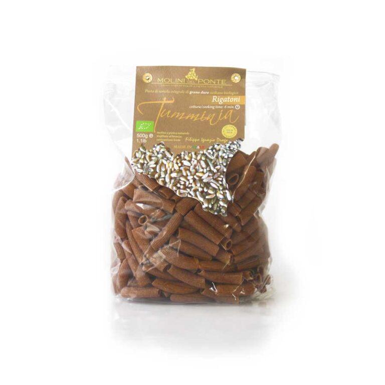 Økologisk fuldkornspasta af tumminia – Rigatoni fra Sicilien. Sikani